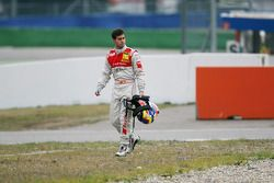 Crash at the start: Miguel Molina, Audi Sport Rookie Team Abt Audi A4 DTM