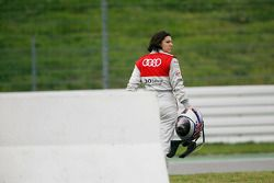 Crash at the start: Katherine Legge, Audi Sport Team Rosberg Audi A4 DTM