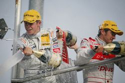 Podium: race winner Paul di Resta, Team HWA AMG Mercedes C-Klasse, second place Timo Scheider, Audi