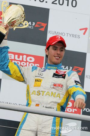 Podium: race winner Daniel Juncadella, Prema Powerteam Dallara F308 Mercedes