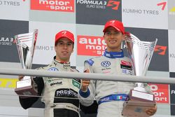 Podium: series champion Edoardo Mortara, Signature Dallara F308 Volkswagen, rookie of the year Anton