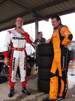 Fabrizio Giovanardi, #21 Fair Dinkum Sheds Racing, Jason Bright, #14 Trading Post Racing