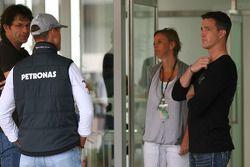 Michael Schumacher, Mercedes GP et Ralf Schumacher
