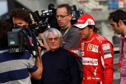 Bernie Ecclestone et Fernando Alonso, Scuderia Ferrari