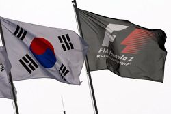 The South Korean Flag and the F1 flag