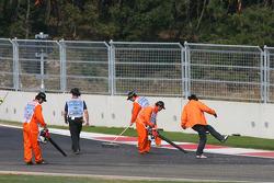 Marshalls clean track, last corner