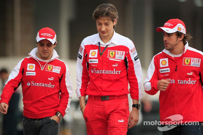 Felipe Massa, Ferrari, Massimo Rivola, Ferrari y Fernando Alonso, Ferrari