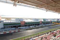 View of the pits from the main grandstand