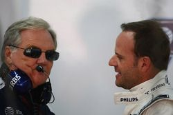 Patrick Head, WilliamsF1 Team, Director of Engineering and Rubens Barrichello, Williams F1 Team