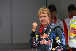 El autor de la pole Sebastian Vettel, Red Bull Racing