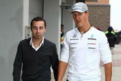 Nicolas Todt, manager avec Michael Schumacher, Mercedes GP