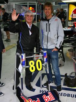 Берни Экклстоуну исполняется 80 на следующей неделе и в качестве команда Red Bull дарит ему гоночные