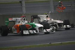 Kamui Kobayashi, BMW Sauber F1 Team en Adrian Sutil, Force India F1 Team