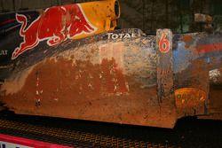 La Red Bull de Mark Webber après son accident