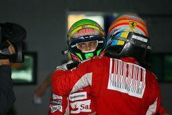 Fernando Alonso (Ferrari), vainqueur, avec son coéquipier Felipe Massa