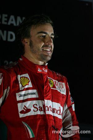 Podium : Fernando Alonso (Ferrari), vainqueur