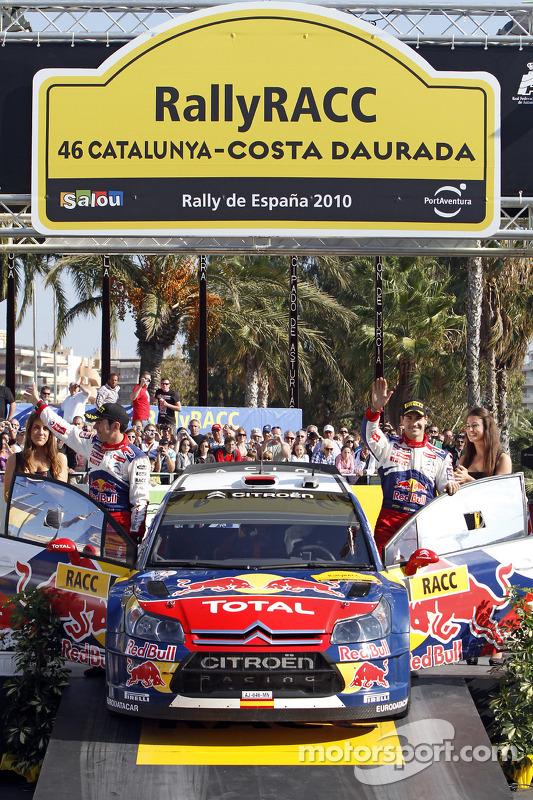 Podium: 3de Daniel Sordo en Diego Vallejo, Citroën C4 Citroën Total World Rally Team