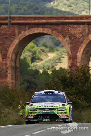 Khalid Al Qassimi et Michael Orr, Ford Focus RS WRC08, BP Ford Abu Dhabi World Rally Team
