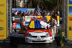Podium: Yeray Lemes and Rogelio Penate, Renault Clio S1600