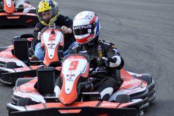 GT1 Karting à Navarre : Peter Kox et Johnny Herbert