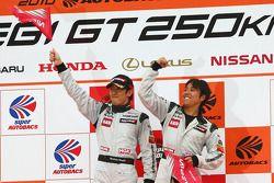 Podium GT300 Winner: #3 Hasemi SportTomica Z: Kazuki Hoshino, Masataka Yanagida