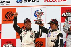 Podium GT300 2nd place: #2 APPLE•K-one•Shiden: Hiroki Katoh, Hiroshi Hamaguchi