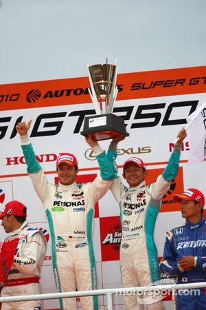 Podium GT500 Winner: #1 Petronas Tom's SC430: Juichi Wakisaka, Andre Lotterer