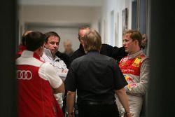 Mattias Ekström, Audi Sport Team Abt Audi A4 DTM, Gary Paffett, Team HWA AMG Mercedes C-Klasse, Gerhard Ungar, Chief Designer AMG talking with Sven Stoppe DMSB DTM-Race Director