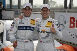 Pole winner Gary Paffett, Team HWA AMG Mercedes C-Klasse , with second place Bruno Spengler, Team HWA AMG Mercedes C-Klasse