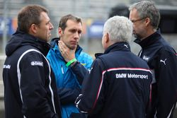Bart Mampaey, Team Principal, BMW Team RBM, Andreas Bellu, and Jan Hartmann, Head of Touring and Ent