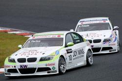 Augusto Farfus, BMW Team RBM BMW 320si en Andy Priaulx, BMW Team RBM BMW 320si