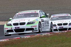 Augusto Farfus, BMW Team RBM BMW 320si et Andy Priaulx, BMW Team RBM BMW 320si