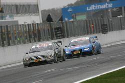 Bruno Spengler, Team HWA AMG Mercedes C-Klasse and Alexandre Prémat, Audi Sport Team Phoenix Audi A4 DTM