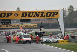 Crash: wagen van Alexandre Prémat, Audi Sport Team Phoenix Audi A4 DTM