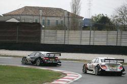 Timo Scheider, Audi Sport Team Abt Audi A4 DTM and Gary Paffett, Team HWA AMG Mercedes C-Klasse