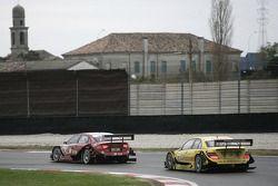 Mike Rockenfeller, Audi Sport Team Phoenix Audi A4 DTM and David Coulthard, Mücke Motorsport, AMG Mercedes C-Klasse
