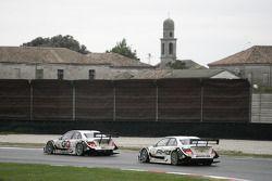 Maro Engel, Mücke Motorsport, AMG Mercedes C-Klasse and Paul di Resta, Team HWA AMG Mercedes C-Klasse