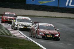 Mike Rockenfeller, Audi Sport Team Phoenix Audi A4 DTM, Ralf Schumacher, Team HWA AMG Mercedes C-Kla