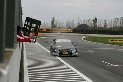 Timo Scheider, Audi Sport Team Abt Audi A4 DTM takes the checkered flag