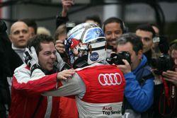 Race winner Timo Scheider, Audi Sport Team Abt Audi A4 DTM celebrates