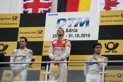 Podium: race winner Timo Scheider, Audi Sport Team Abt Audi A4 DTM, second place Gary Paffett, Team