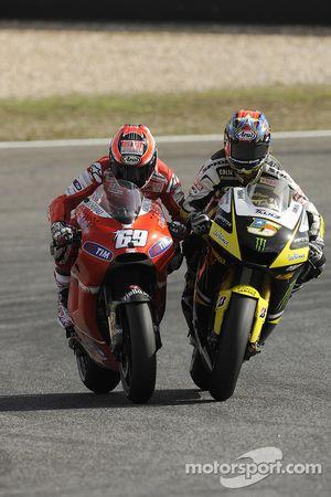 Nicky Hayden, Ducati Marlboro Team y Colin Edwards, Monster Yamaha Tech 3