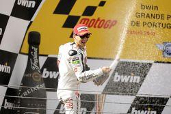 Podio: ganador de la carrera Jorge Lorenzo, Fiat Yamaha Team