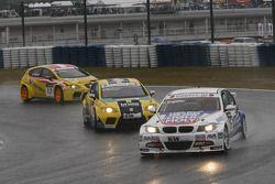 Franz Engstler, Liqui Moly Team Engstler BMW 320si et Tiago Monteiro, SR-Sport Seat Leon 2.0 TDI