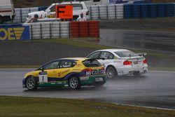 Gabriele Tarquini, SR-Sport Seat Leon 2.0 TDI et Augusto Farfus, BMW Team RBM BMW 320si