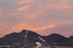 Un beau coucher de soleil à Las Vegas