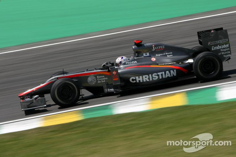 2010 год. Кристиан Клин. 3 гонки в HRT