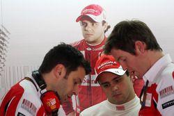 Felipe Massa, Scuderia Ferrari, Rob Smedly, Scuderia Ferrari, Chief Engineer of Felipe Massa