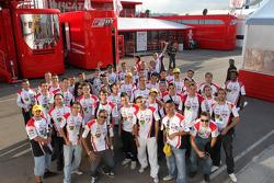 LCR Honda MotoGP team members pose