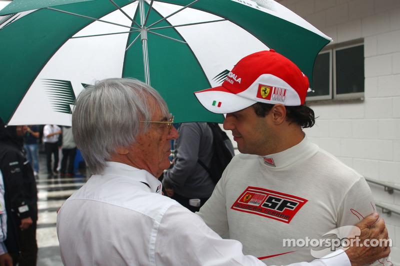 Bernie Ecclestone et Felipe Massa (Scuderia Ferrari)